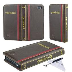 Eco-Fused Faux Leather Classic Book Cover for iPhone 5 / 5S