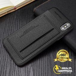 ID Card Holder Wallet Leather kickstand Slim Bumper Armor Ca