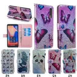 flash pu leather filp wallet phone case