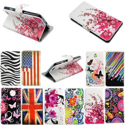 Flip Flower Leather Phone Stand Wallet Cover Case For Samsun
