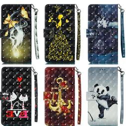 Flip Leather Stand Phone Case Cover Card Holder Wallet For i