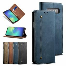 Flip Leather Stand Wallet Card Case Cover For Samsung Galaxy