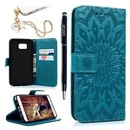MOLLYCOOCLE Galaxy Note 5 Case, PU Leather Wallet Case Kicks
