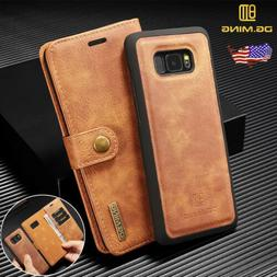 Galaxy Note 9 S8/S9 Plus Leather Removable Wallet Case Magne