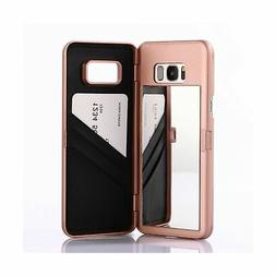 Wetben Case for Galaxy S8,Hidden Back Mirror Wallet Case wit