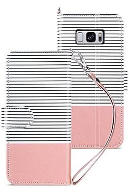 Galaxy S8 Plus Wallet Case, ULAK Galaxy S8 Plus Case with ki