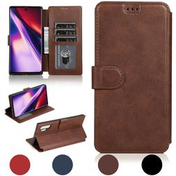 For Galaxy S9/S8/Plus/Note 8 Leather Removable Wallet Magnet