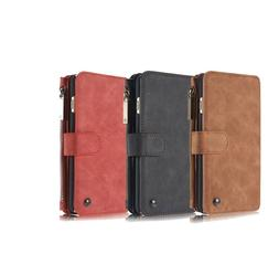 Genuine Leather Case Cover Zipper Wallet Card Multi-function