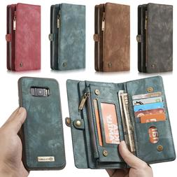 Genuine Leather Purse Wallet Case For iPhone XR Note 10 Magn