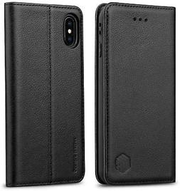 WenBelle Genuine Leather Wallet Case for iPhone XS / iPhone