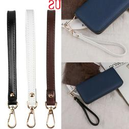 Genuine Leather Wristlet KeyChain Buckle Strap for Wallet Ba