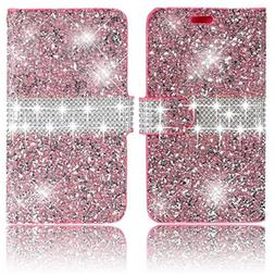 iPhone 6S Plus Case,Vandot Diamond Shiny Glitter Sparkle Wal