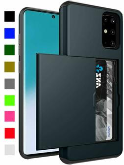 Hard Case Cover W/ Card Wallet Slot Samsung Galaxy S20 S10 S