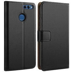 HOOMIL Case Compatible with Honor 7X, Premium Leather Flip W