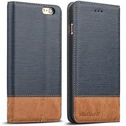 """iPhone 6s Plus 5.5"""" Wallet case,WenBelle  Wallet-Style,Stand"""