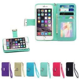 IZENGATE ID Cell Phone Wallet Case Flip Cover PU Leather Fol