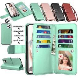 For iPhone 11,11 Pro Max Flip Leather Wallet Case w/Card Hol