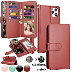 For iPhone 11/11 Pro MAX Leather Wallet Case Magnetic Flip C