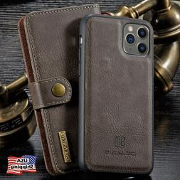 For iPhone 11/12 PRO MAX Leather Removable Wallet Magnetic F
