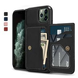 For iPhone 11,11 Pro Max Magnetic Leather Case Cover W/ Card