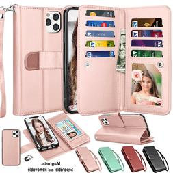 For iphone 12 11 Pro Max XS X XR SE 2 XS Max 7 8 Leather Wal