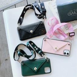 For iPhone 11 Pro Max XR 8 7 Cute Flower Envelope Wallet Car