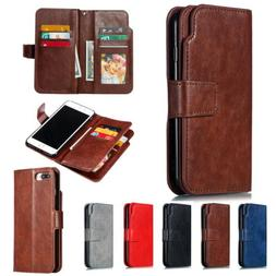 For iPhone 11 Pro MAX XR X 8 7 6 Plus Card Holder Leather Fl