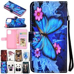 For iPhone 11 Pro Max XS XR 7 8 Pattern Magnetic Flip Leathe