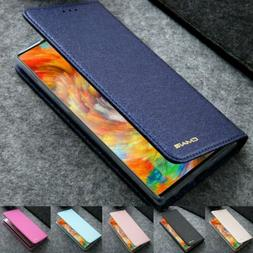 for iPhone 11 XR 8 7 6S Plus Luxury Wallet Silk Leather Magn