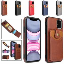 For iPhone 12 11 Pro Max XS XR X 8 7 6 6S SE2 Wallet Card Ho