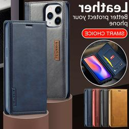 For iPhone 12 11 Pro Max XS XR 78+ Slim PU Leather Card Slot
