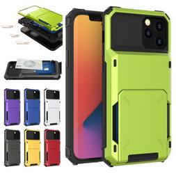 For iPhone 12 Pro Max 11 XR XS 8 7 Plus Shockproof Card Hold