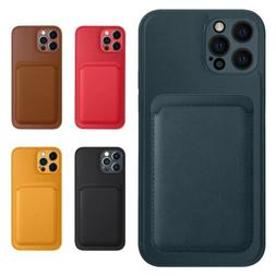 For iPhone 12 Pro Max 12 Mini 12 Pro Leather Case Back Cover