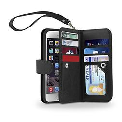 Gear Beast iPhone 6s / 6 Dual Wallet Case Slim Protective PU