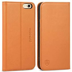 iPhone 6S Case iPhone 6 Case, SHIELDON Genuine Leather Walle
