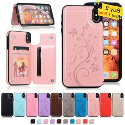 For iPhone 7 8 Plus XS Max XR 6S WOMEN Leather Card Holder W