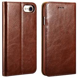iPhone 7/8 Wallet Case, ICARERCASE Premium PU Leather Folio