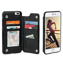 Gear Beast iPhone 8 Plus / 7 Plus Wallet Case, Top View Flip