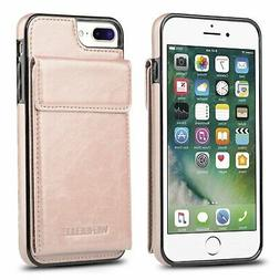 for iPhone 7 Plus Wallet Case, iPhone 8 Plus Card Holder Cas
