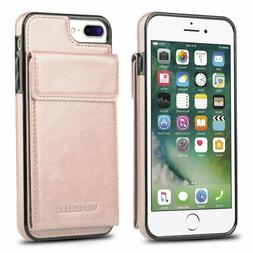 For Iphone 7 Plus Wallet Case Iphone 8 Plus Card Holder Case