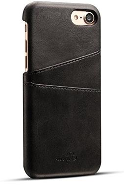 iPhone 8 Card Case, XRPow Synthetic Leather Wallet Case with