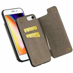 iPhone 8 / iPhone 7 Wallet Case,WenBelle PU Leather Kickstan