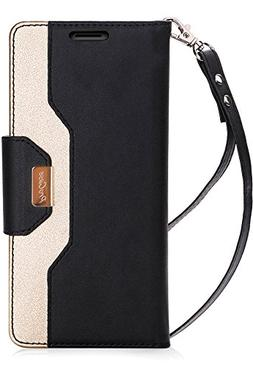 ProCase iPhone 8 Plus / 7 Plus Wallet Case, Flip Fold Card C