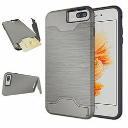 iPhone 8 Plus Case ,iPhone 7 Plus case Card Holder, Se7enlin