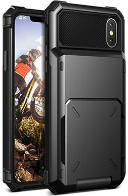 VRS Design  TPU + Hard PC Hybrid Wallet Case Spring loaded