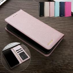For iPhone SE 2020 2nd Gen 8 7 Silk Leather Magnetic Flip Ca