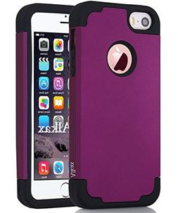 Alkax iPhone SE Case, iPhone 5S Case, iPhone 5 Case, Dual La