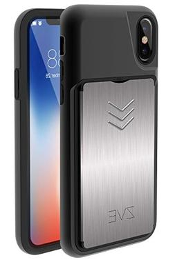 iPhone X Wallet Case, iPhone X Case with Card Holder, ZVE Ap