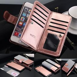For iPhone X 6 8 7 Plus Luxury Wallet Case Flip Leather Remo