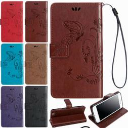 For iPhone X 8 7 6S Plus Card Holder Wallet Flip Leather Sta